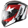 Casque SKWAL STICKING  Black White Red Tailles L M S XL XS